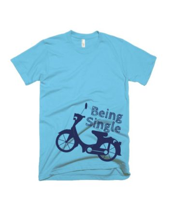 Being single light blue half sleeve graphic t-shirt for Men and Women by adimanav.com