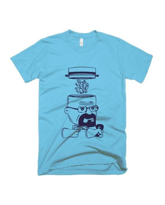 Breaking bad light blue half sleeve graphic t-shirt for Men and Women by adimanav.com