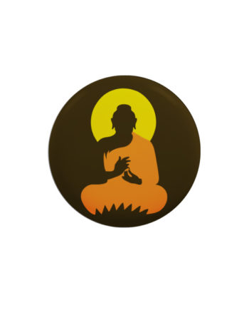 Buddha pin plus magnet badge