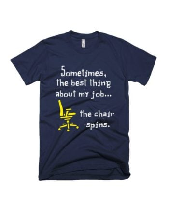 Chair spins navy blue half sleeve graphic t-shirt for Men and Women by adimanav.com