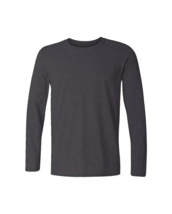 plain charcoal melange full sleeve t-shirt by adimanav.com for men and women