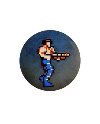 Contra pin plus magnet badge