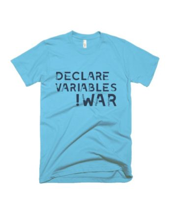 Declare variable light blue half sleeve graphic t-shirt for Men and Women by adimanav.com
