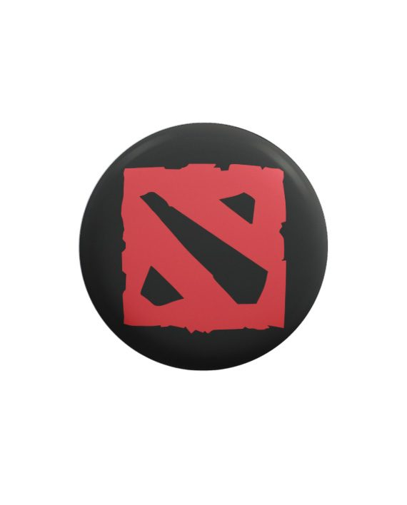 Dota 2 pin plus magnet badge