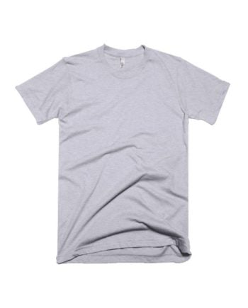 plain melange grey half sleeve t-shirt by adimanav.com for men and women