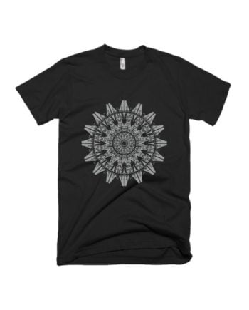 Humans Black half sleeve graphic t-shirt by adimanav.com for Men and Women