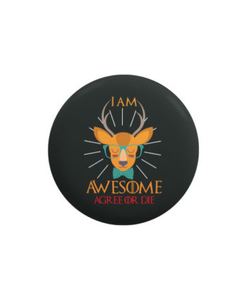 I am awesome pin plus magnet badge