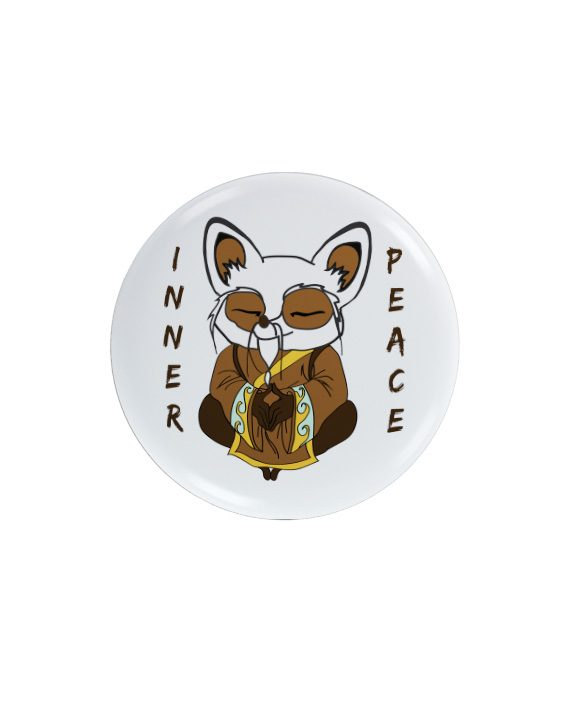 Shifu Inner Peace pin plus magnet badge