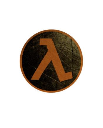 Lambda pin plus magnet badge