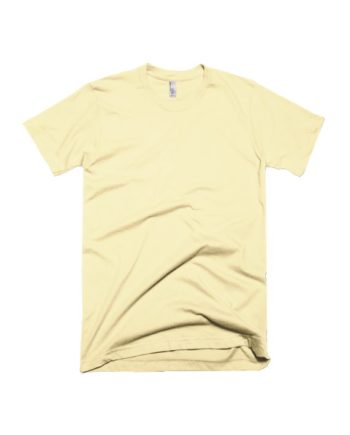 plain light yellow half sleeve t-shirt by adimanav.com for men and women