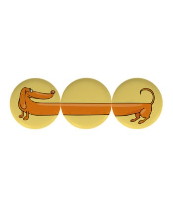 Amazing Dog pin plus magnet badge