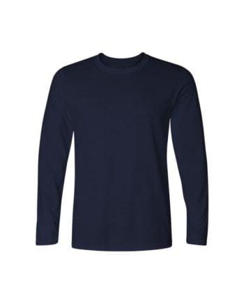 plain navy blue full sleeve t-shirt by adimanav.com for men and women