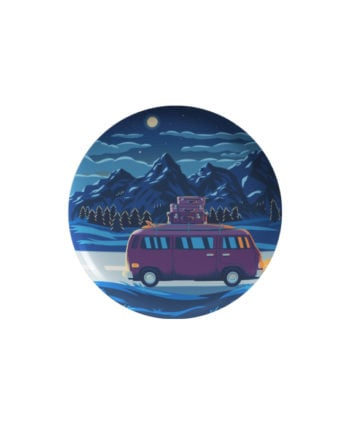 Night Travel pin plus magnet badge