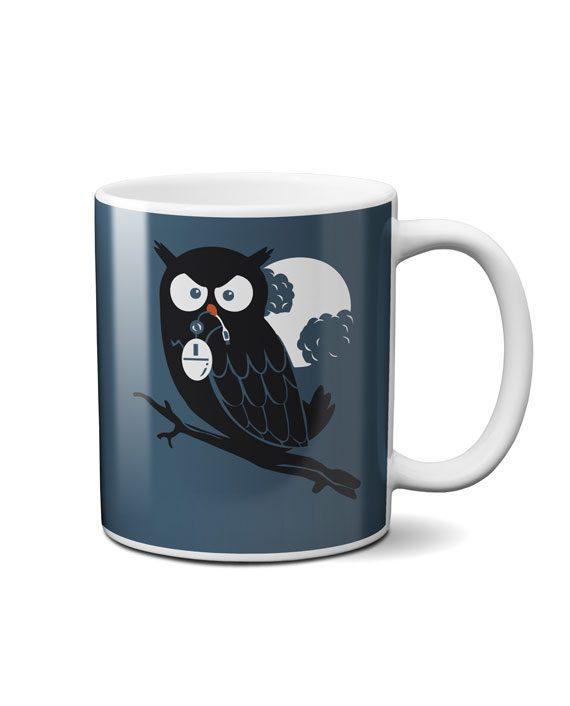 owl mouse geek coffee mug by adimanav.com