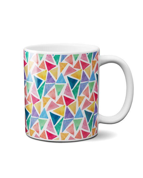 painted triangles coffee mug by adimanav.com