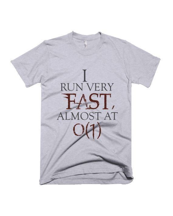 I run very fast grey melange geek half sleeve graphic t-shirt for Men and Women by adimanav.com