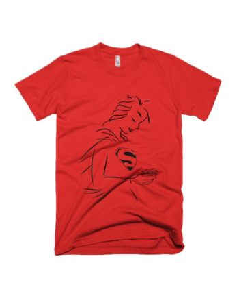 Superwomen red half sleeve graphic t-shirt for Men and Women by adimanav.com