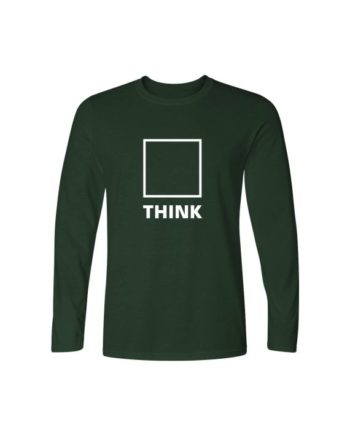 think full sleeve bottle green t-shirt by adimanav.com for men and women