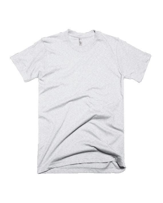 plain white melange half sleeve t-shirt by adimanav.com for men and women