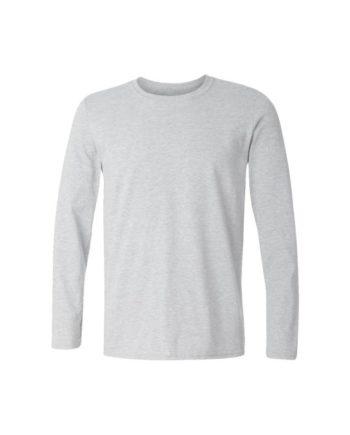 plain full sleeve white melange t-shirt by adimanav.com for men and women