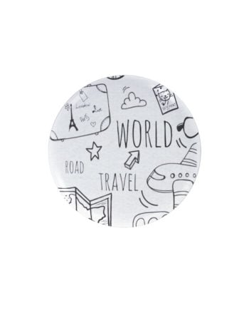 World travel pin plus magnet badge