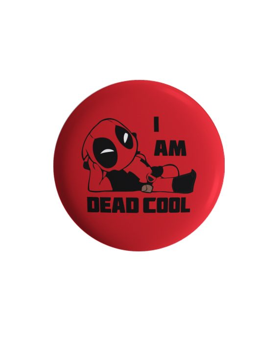 I am deadcool pin plus magnet badge