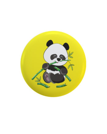 Foodie Panda pin plus magnet badge
