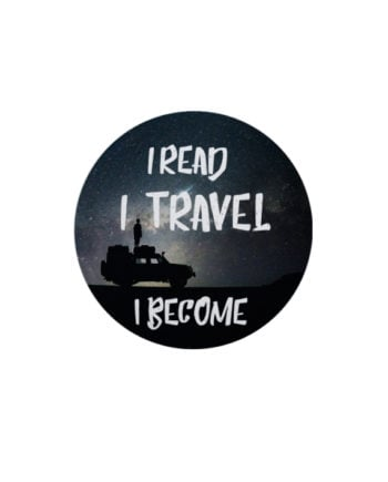 I Read Travel Become pin plus magnet badge