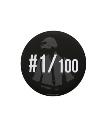 1 out of 100 pin plus magnet badge by Adimanav.com