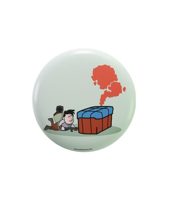 Drop pin plus magnet badge