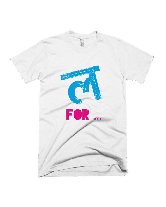 L for official merchandise T-shirt of Luckee on Adimanav.com