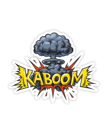 Kaboom Laptop Computer Mobile Fridge Desk Bike Car Furniture Notebook Sticker by Adimanav.com