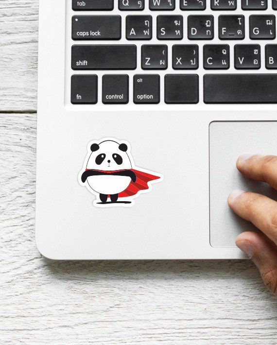 Super Panda Laptop Computer Mobile Fridge Desk Bike Car Furniture Notebook Sticker by Adimanav.com
