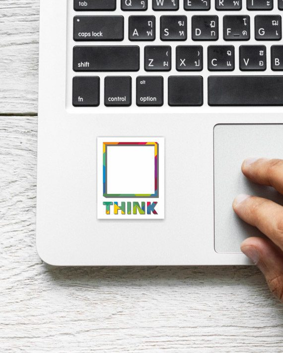 Think out of the box Laptop Computer Mobile Fridge Desk Bike Car Furniture Notebook Sticker by Adimanav.com