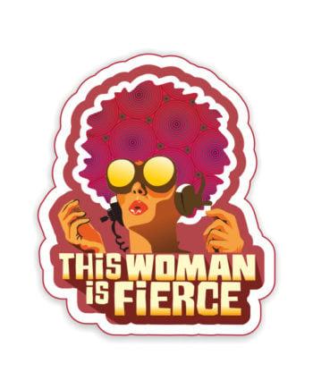This Woman Is Fierce Laptop Computer Mobile Fridge Desk Bike Car Furniture Notebook Sticker by Adimanav.com