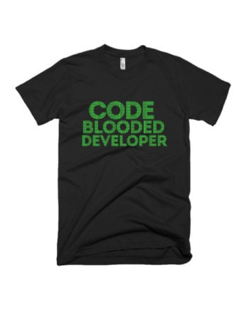 Code Blooded Developer programming coder T-shirt by Adimanav.com
