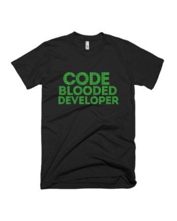 Code Blooded Developer programming coder T-shirt by Adimanav.com