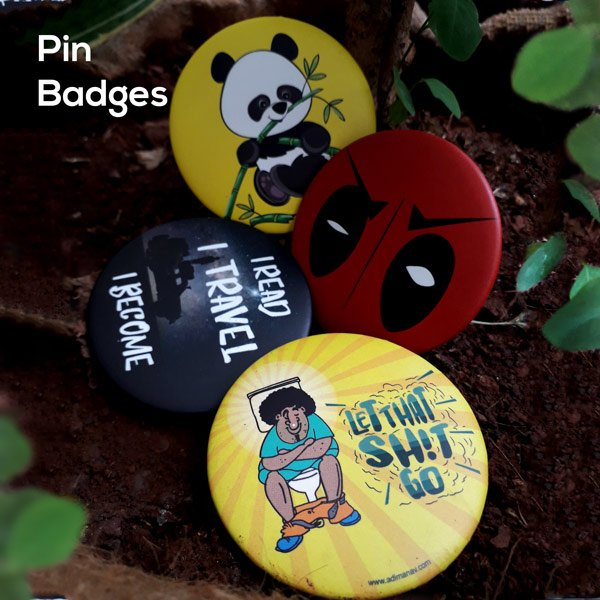 Pin plus Magnet Badges by Adimanav