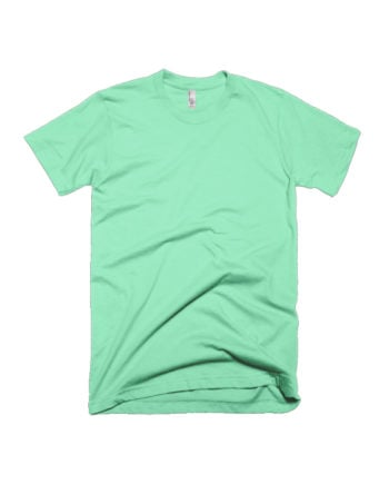 Mint Green Plain T-shirt by Adimanav.com