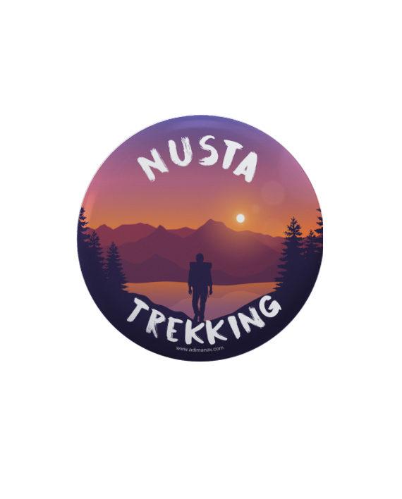 Nusta Trekking pin plus magnet badge by Adimanav.com