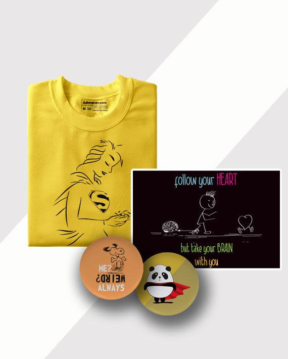 Supernatural T-shirt Poster and Badge Combo by Adimanav.com