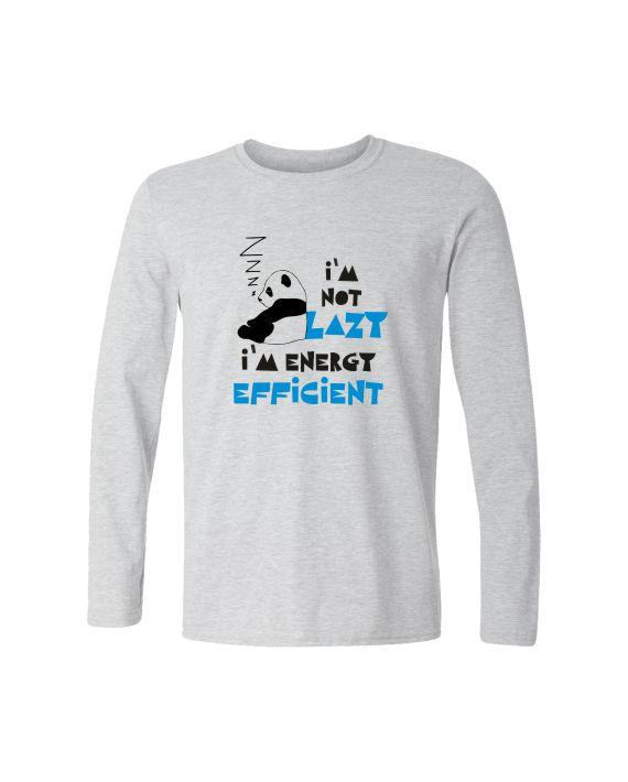 Energy Efficient White Melange Full Sleeve T-shirt by Adimanav.com