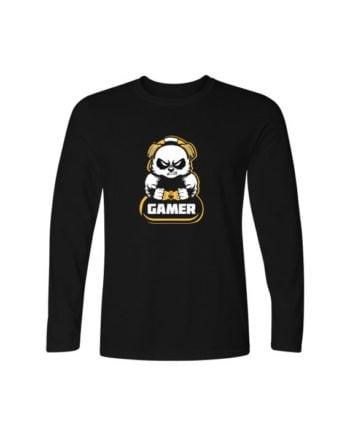 Gamer Black Full Sleeve T-shirt by Adimanav.com