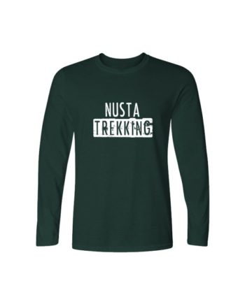 Nusta Trekking Bottle Green Full Sleeve T-shirt by Adimanav.com