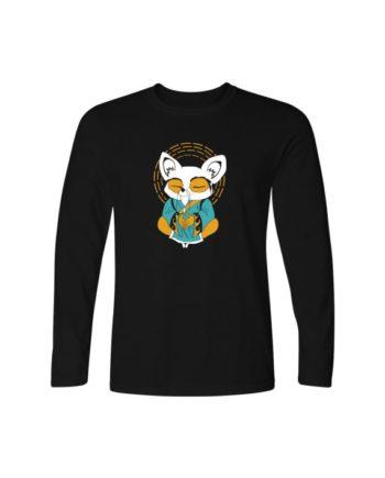 Inner Peace Black Full Sleeve T-shirt by Adimanav.com