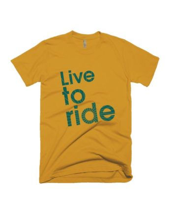 Live to Ride Yellow HS T-shirt by Adimanav.com