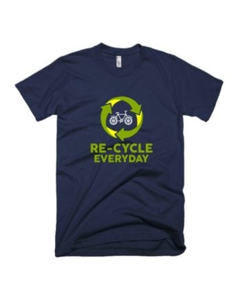 ReCycle Everyday Navy Blue HS T-shirt by Adimanav.com