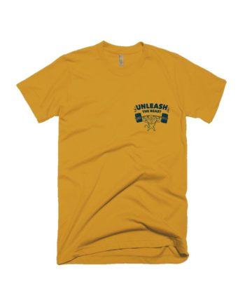 The Beast Pocket Print Yellow T-shirt by Adimanav.com