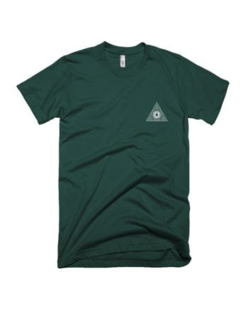 Trikona Bottle Green Pocket Print T-shirt by Adimanav.com