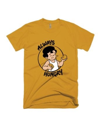 Always Hungry Yellow Chintoo T-shirt by Adimanav.com